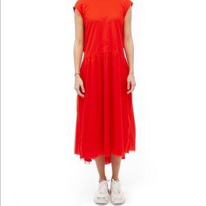 Melitta Baumeister red apron dress - never worn
